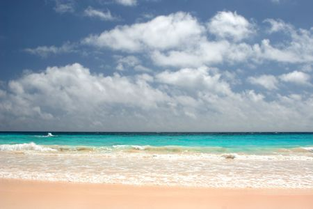 Pinks sands of a Bermuda Beach Stock Photo