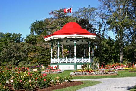 Bandstand in Halifax Public Gardens, Nova Scotia.