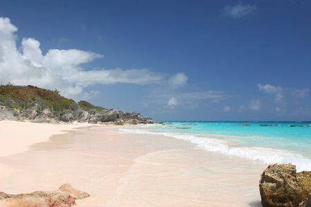 Get away from it all on the pink sands of Horse Shoe Bay, Bermuda.