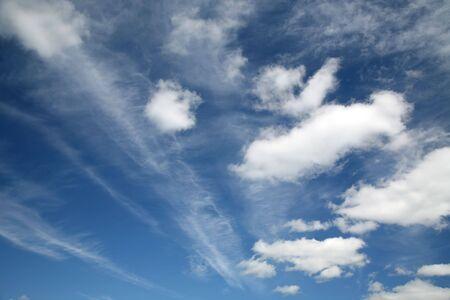 wispy: Big summer skies of wispy clouds.