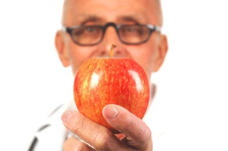 Physician's advice of 'An apple a day keeps the doctor away' Stock Photo - 4085377
