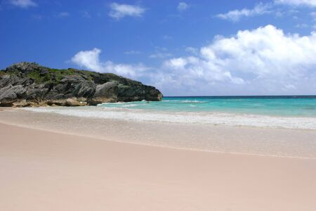 The lovely pink sands of Horseshoe Bay Beach, Bermuda.