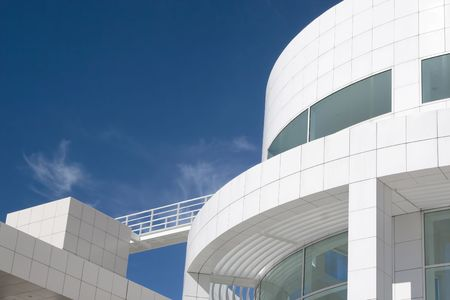 Fantastic modern architecture of the Getty Center, Los Angeles, California.