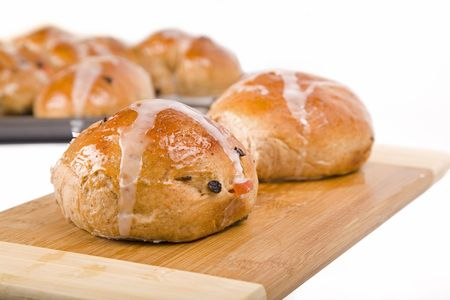 An Easter time treat, traditional homemade hot cross buns.