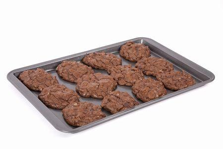 Triple the chocolate in these decadent homemade chocolate cookies for gourmets. Cocoa, chocolate and chocolate chips. photo