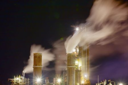 Part of the oil refinery Stock Photo - 7262305