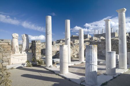 archaeological sites: The Greek island of Delos, part of the Cyclades islands, near the island of Mykanos, is one of the most important historical and archaeological sites in Greece. Extensive excavations of the ruins are ongoing.  Considered by the ancients the birthplace of