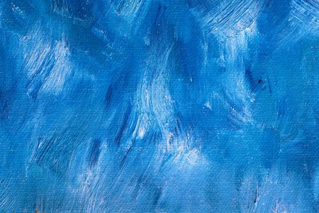 frayed: Background of detail of blue oil painting.