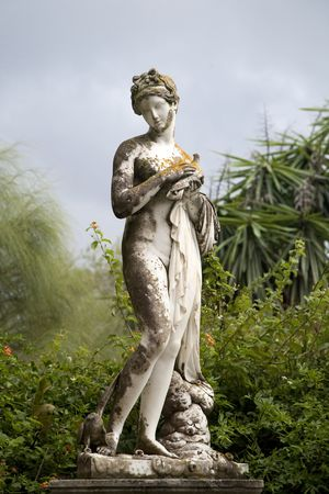 greek gods: Sculptured figure on the grounds of the Achillion Palace on the island of Corfu.