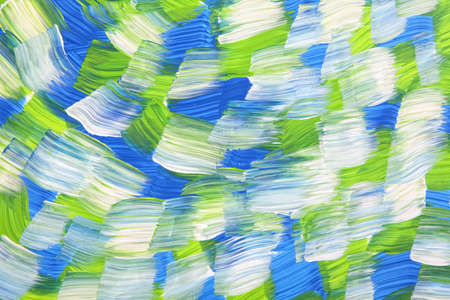 frayed: Broad brushstrokes form a background of a multi colored wave.