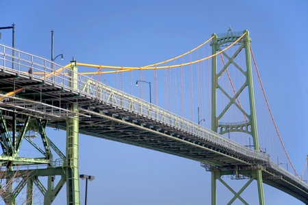 macdonald: The Sir John A MacDonald suspension bridge over Halifax Harbour linking Dartmouth and the city of Halifax in Nova Scotia, Canada.