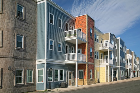 A new housing development containing either apartments or condos. Stock Photo - 9673402