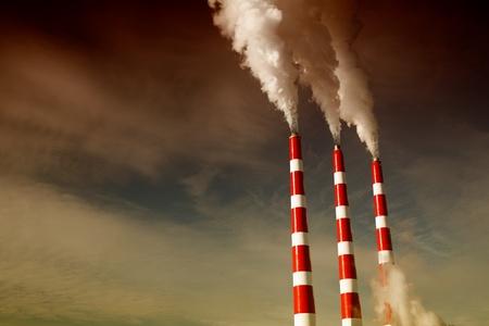 smoke stack: Industrial smoke stack of coal power plant.