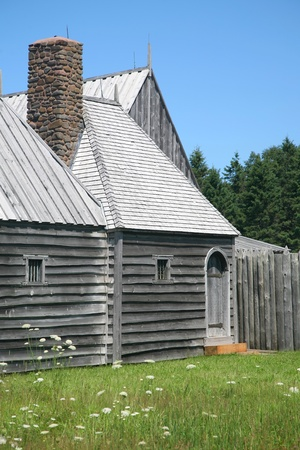 habitation: A reconstruction of the original Port Royal Habitation (1605), a french fur-trading post built by the company of Sieur de Mons and Samuel Champlain.  It was the first successful (though short-lived) French settlement of New France in North America, and is