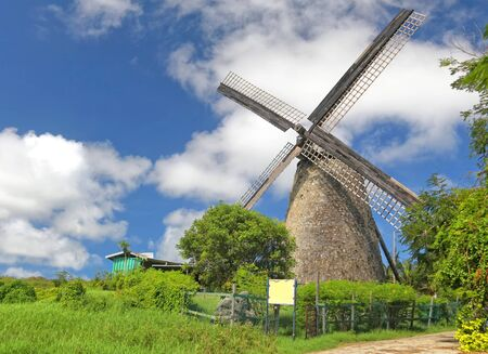 The Morgan Lewis Mill in Barbados was the last working mill on the island and was believed to be built in 1727.