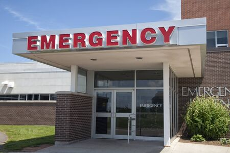 The emergency entrance of a medical hospital.