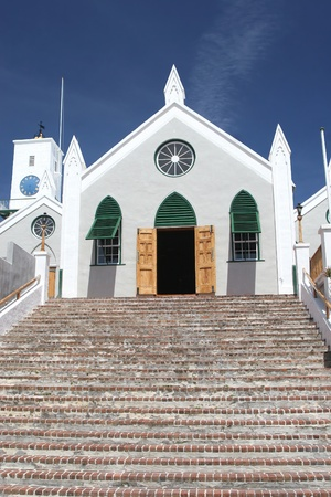 believed: St. Peters Anglican Church in the community of St. Georges on the island of Bermuda.  St Peter's Church is believed to be the oldest continually used Anglican church in the Western hemisphere.