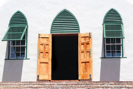 believed: St. Peters Anglican Church in the community of St. Georges on the island of Bermuda.  St Peter�s Church is believed to be the oldest continually used Anglican church in the Western hemisphere. Editorial