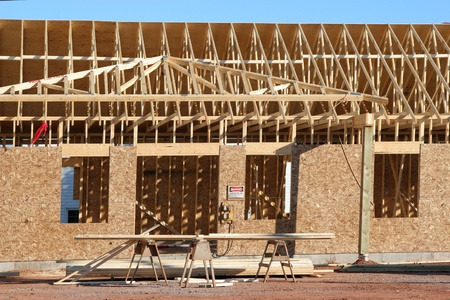 New construction of a home or building. Stock Photo - 11817432