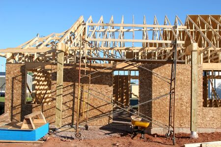 rafters: The construction of a new home or building.