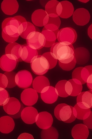 Defocused abstract red lights as a christmas background