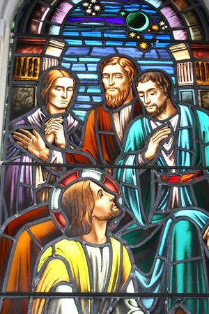 stained glass windows: Biblical Stained Glass