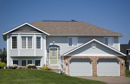 subdivisions: Split Level home in a residential district.