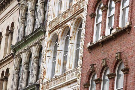 Nova Scotia: Facades of old buildings in downtown Halifax, Nova Scotia, Canada.