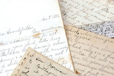 old letters: An assortment of old letters dating to the late 1800 Editorial