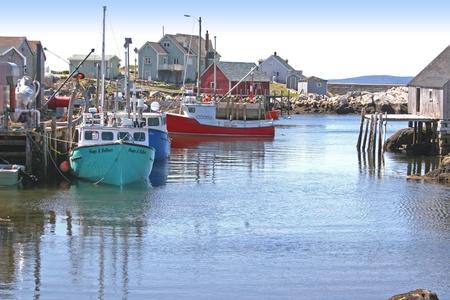 fishing village: Nova Scotia fishing village.