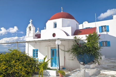 A small family chapel built in the 1800s on a Greek island.