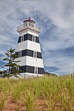 navigational light: Historic West Point Lighthouse located in western Prince Edward Island, Canada in Cedar Dunes Provincial Park.