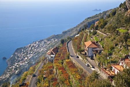 Vista along the Amalfi coast.