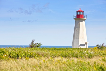 edward: Ship Wreck Point Lighthouse in rural Prince Edward Island, Canada. Stock Photo