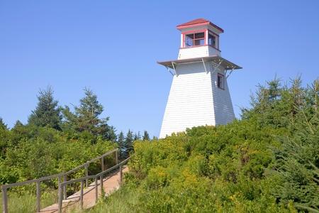 Cabot Park Lighthouse, Prince Edward Island, Canada.   photo