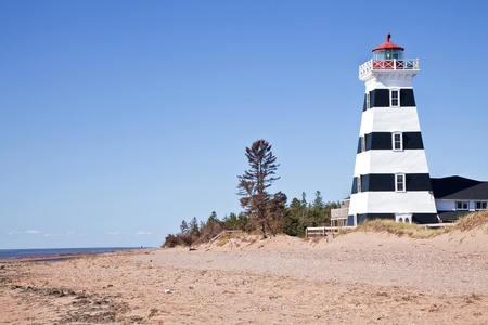 A view of West Point Lighthouse in rural Prince Edward Island, Canada. photo