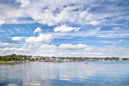 Harbour and waterfront of the historic town of Lunenburg, Nova Scotia, Canada  Stock Photo - 13757567