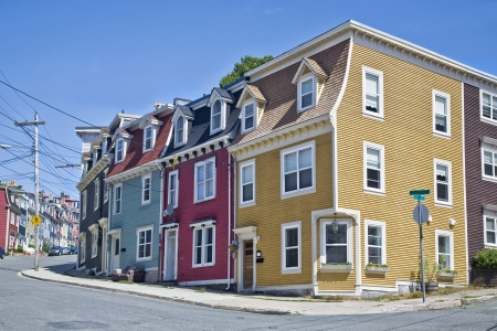 nfld: Unique architecture in the colorful houses on the steep streets of St  John