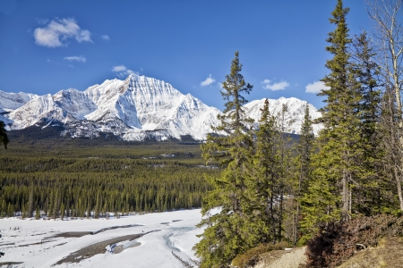 Winter views of Jasper National Park, Alberta, Canada  Stock Photo - 15163907