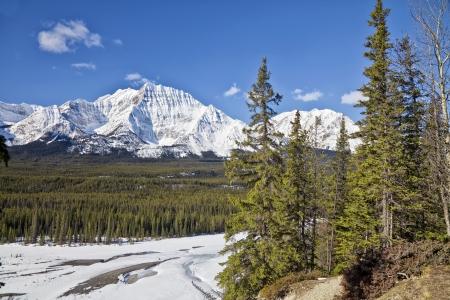 Winter views of Jasper National Park, Alberta, Canada Stock Photo - 15163907