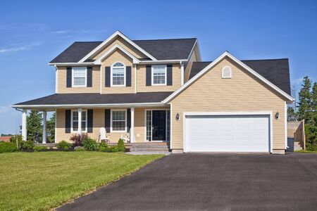 driveways: Large family home in a rural area.