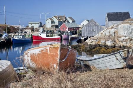 scotia: The small fishing village and tourism destination of Peggys Cove, Nova Scotia, Canada.