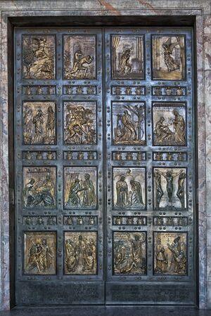 basillica: Porta Santa, The Holy Door in Saint Peters Basilica; Vatican, Rome, Italy