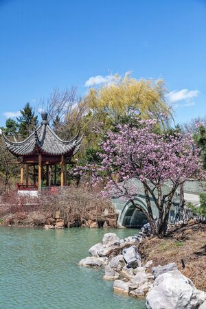 Chinese Garden in the Montreal Botanical Garden, Montreal, Quebec, Canada. photo