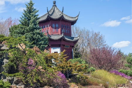 canada agriculture: Chinese Garden in the Montreal Botanical Garden, Montreal, Quebec, Canada.
