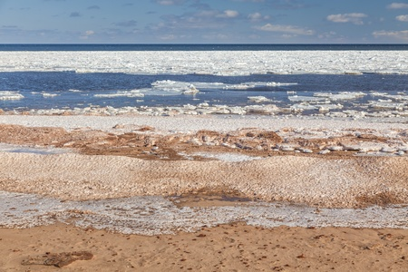 breaking up: Ice breaking up on Cavendish Beach, Prince Edward Island.