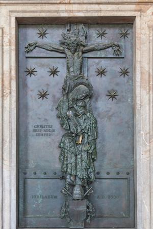 roma: Jubilee Door at famous Basilica of Saint John Lateran in Rome, Italy Stock Photo