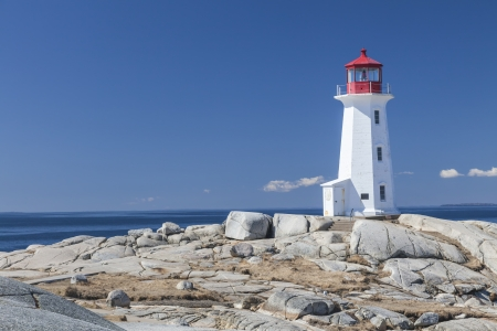 Peggys Cove lighthouse, Nova Scotia, Canada.