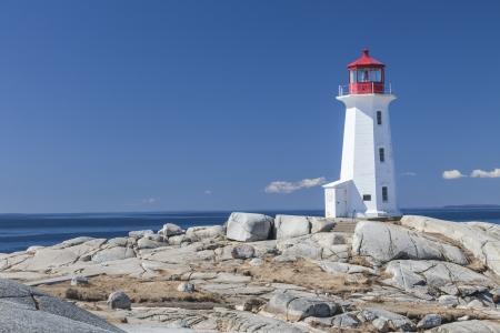 Nova Scotia: Peggys Cove lighthouse, Nova Scotia, Canada.