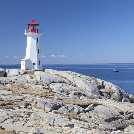 Peggys Cove lighthouse, Nova Scotia, Canada. photo